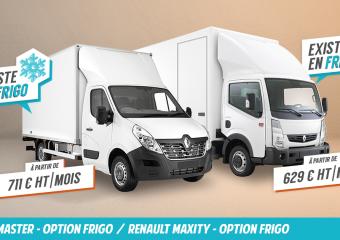 Une offre rafraichissante en défiscalisation ! Renault Master ou Renault Maxity, avec option frigorifique | Ecofip Martinique